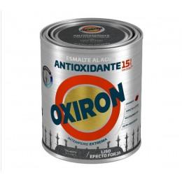 ESMALTE ANTIOXIDANTE OXIRON LISO AL AGUA TITAN NEGRO